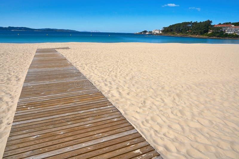 Sanxenxo also Sanjenjo Silgar beach in Pontevedra. Galicia Spain stock photos