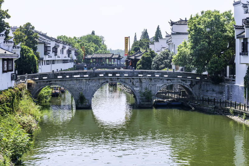 Sanxian most (Bridżowi zazębiania trzy okręgi administracyjni) zdjęcie royalty free