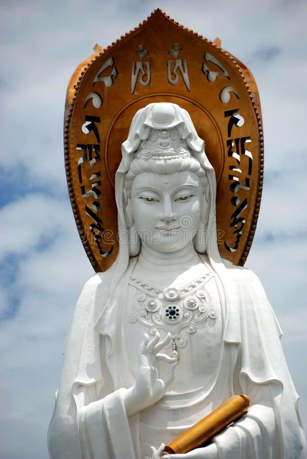 SanYa, Chine : Visage de Guan Yin Bouddha image stock