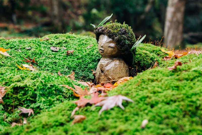 Sanzenin temple statue at autumn in Ohara, Kyoto, Japan. Asia stock photos