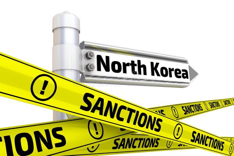 Sanzioni contro la Corea del Nord Concetto illustrazione vettoriale