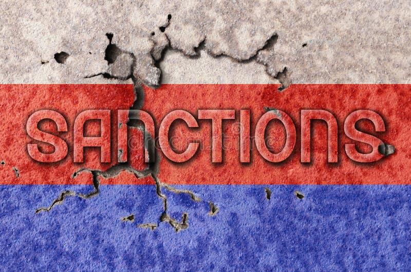 Sanzioni della Russia due royalty illustrazione gratis