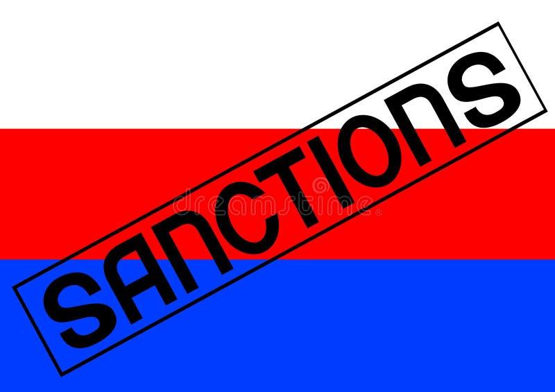 Sanzioni per la Russia una illustrazione di stock