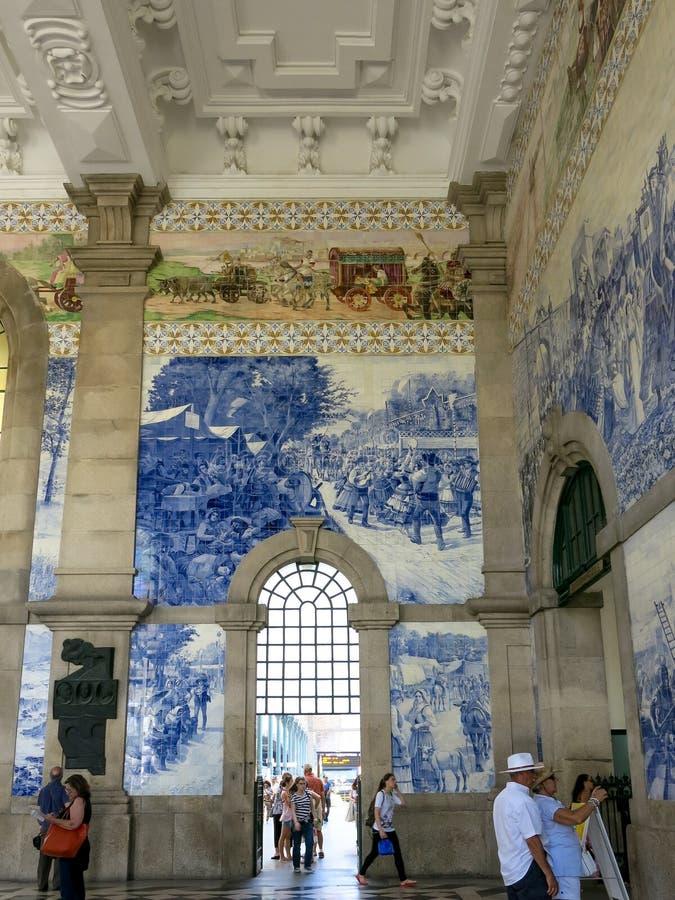 Sao Bento Station, Porto royalty free stock photos