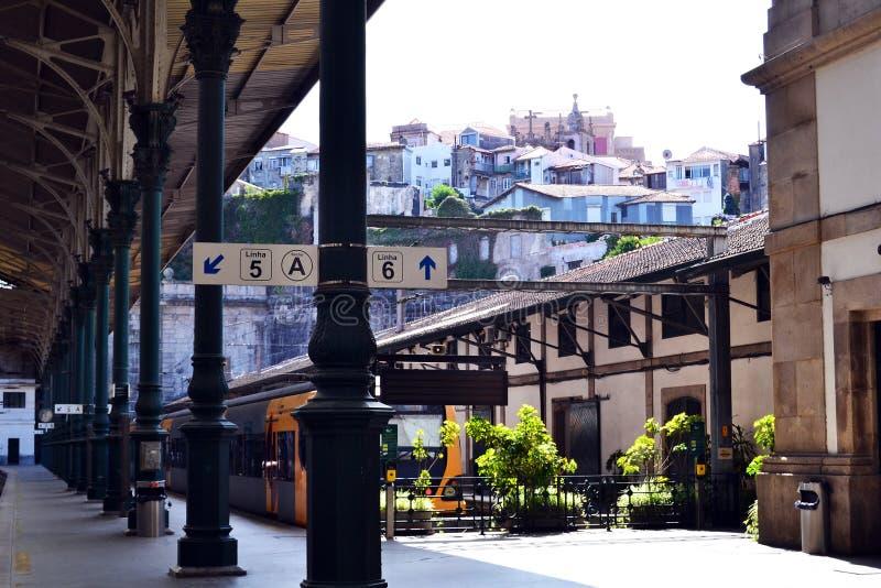 Sao Bento trainstation, Porto stock image