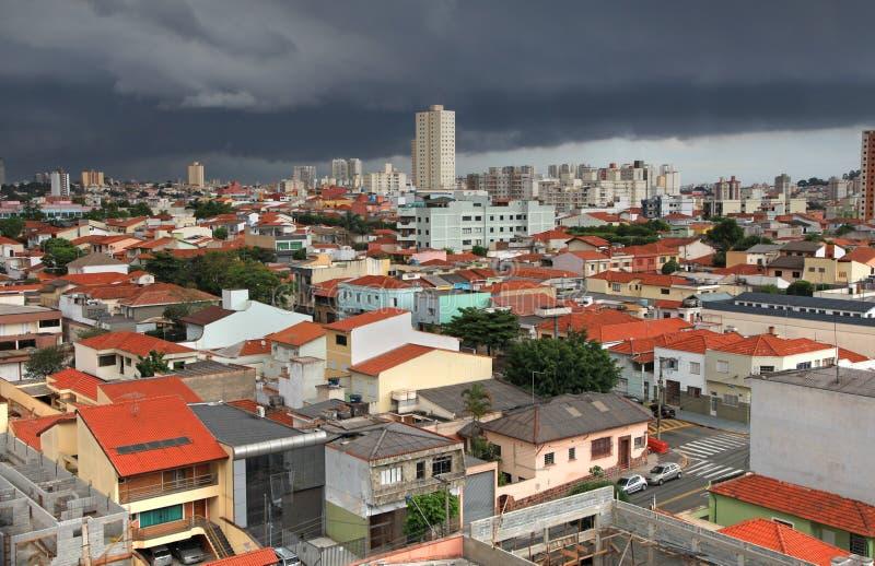 Sao Caetano robi sul miastu w Brazylia obraz stock