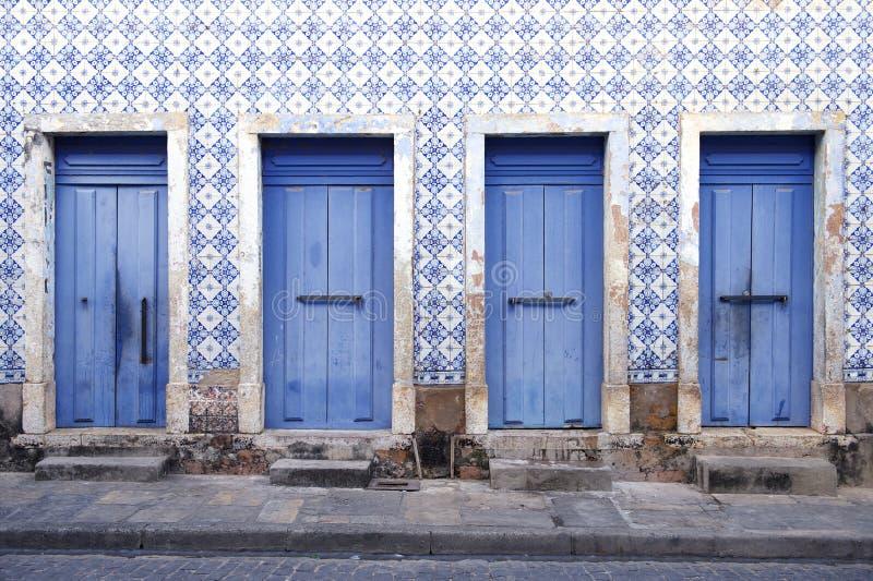 Sao colonial brésilien portugais Luis Brazil d'architecture images stock
