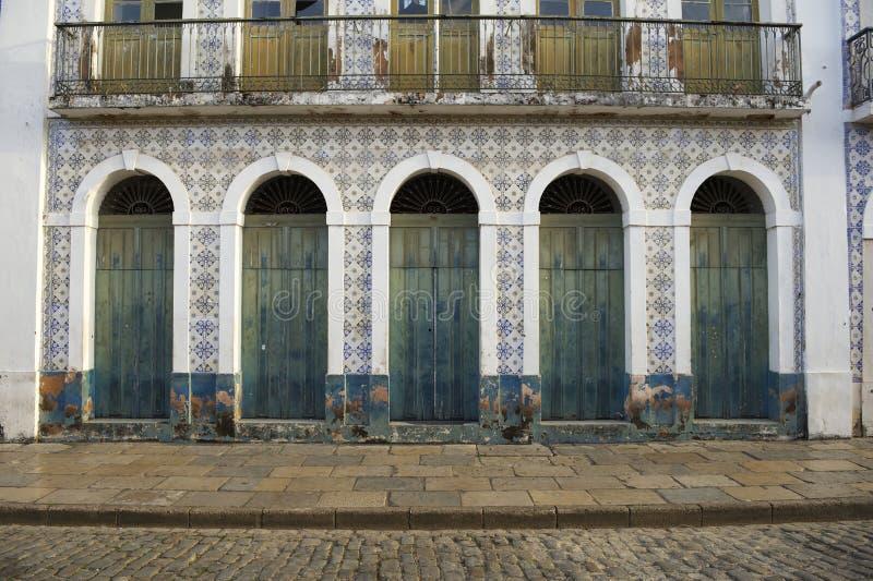 Sao colonial brésilien portugais Luis Brazil d'architecture photo stock