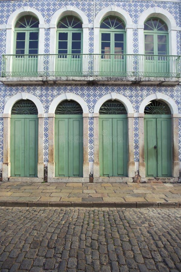 Sao colonial brésilien portugais Luis Brazil d'Azulejos d'architecture image libre de droits