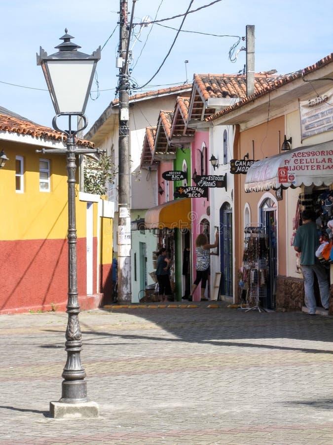 Sao d'abitazione storico Paulo Brazil di Itanhaem immagine stock libera da diritti