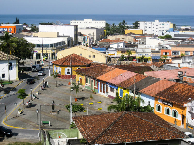 Sao de vivienda histórico Paulo Brazil de Itanhaem foto de archivo