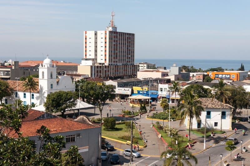 Sao de vivienda histórico Paulo Brazil de Itanhaem imagen de archivo libre de regalías
