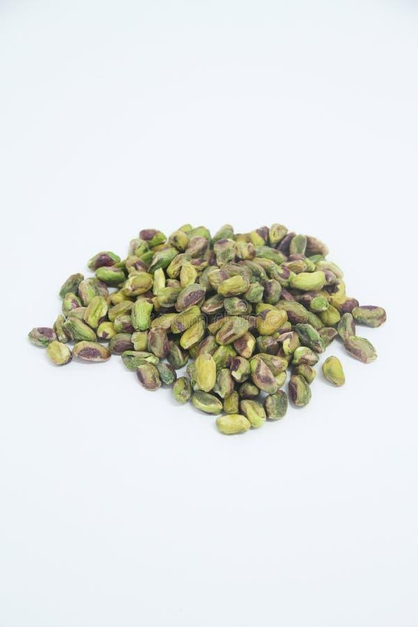 Sao delicioso Paulo Brazil del detalle del verde de la agricultura del grano alimenticio de los pistachos imagen de archivo