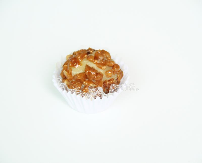 Sao delizioso Paulo Brazil dell'alimento di ricetta bianca del fondo isolato caramella del caramello fotografie stock libere da diritti