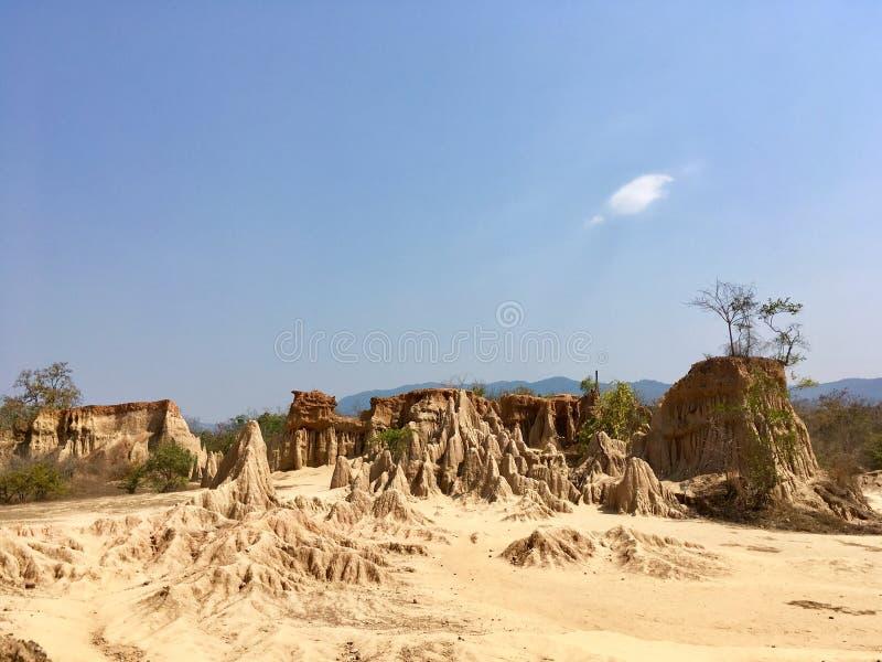 Sao Din Na Noi, naturaleza invisible de la provincia de Nan, Tailandia fotografía de archivo libre de regalías