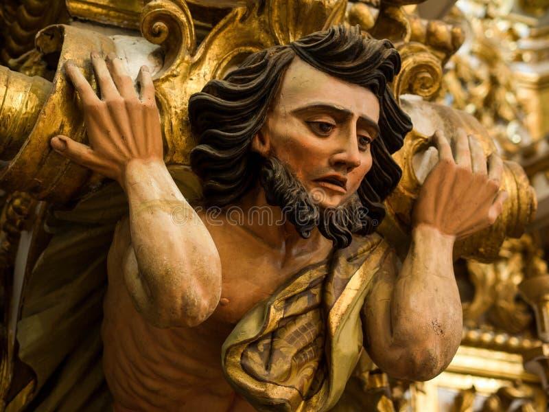 Sao Francisco Church en Kloosterdetail, Salvador da Bahia, Braz royalty-vrije stock afbeelding