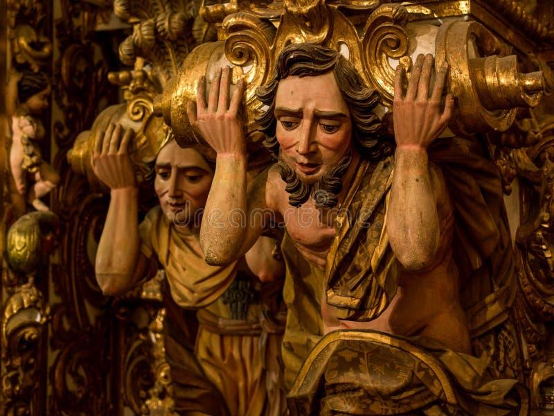 Sao Francisco Church et détail de couvent, Salvador da Bahia, Braz images stock