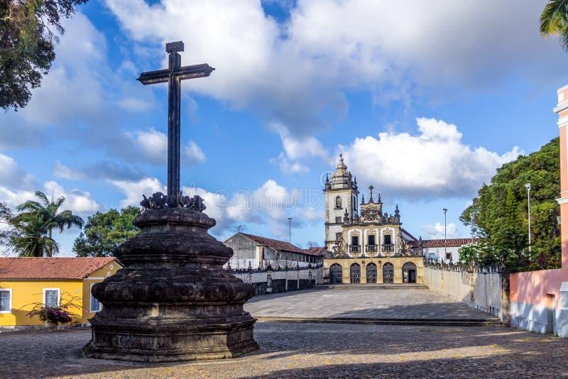 Sao Francisco Church - Joao Pessoa, Paraiba, Brasilien arkivfoto
