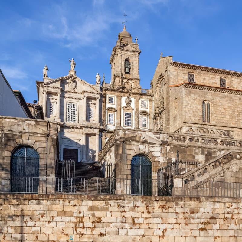 Sao Francisco Church, recht, de 14de eeuw Gotische architectuur royalty-vrije stock fotografie