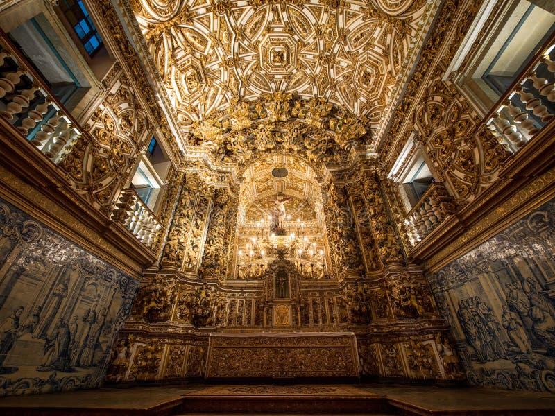 Sao Francisco Church y altar del convento, Salvador da Bahia, Brazi imagen de archivo
