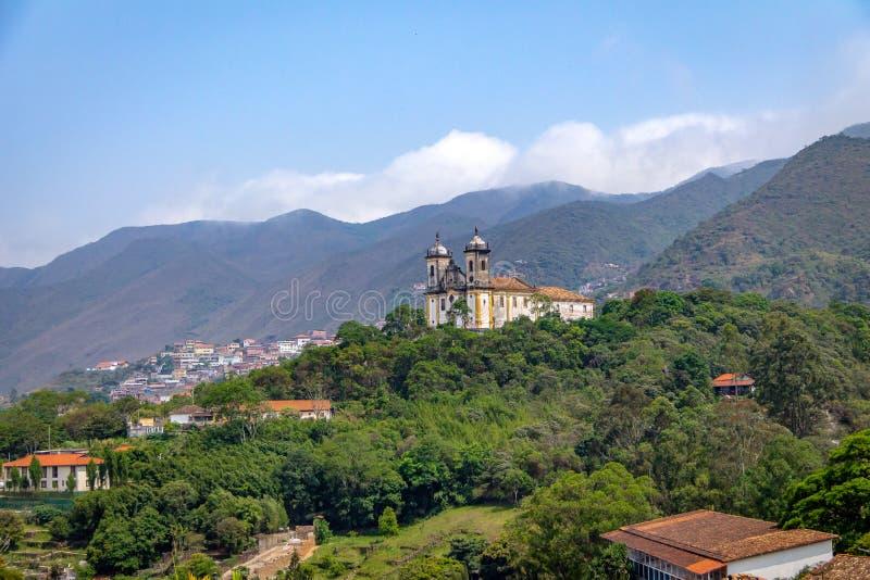 Sao Francisco de Paula Church - Ouro Preto, Minas Gerais, Brasile fotografia stock