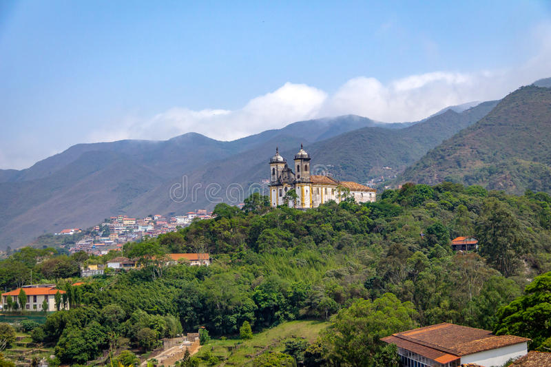 Sao Francisco de Paula Church - Ouro Preto, Minas Gerais, Brazilië stock foto