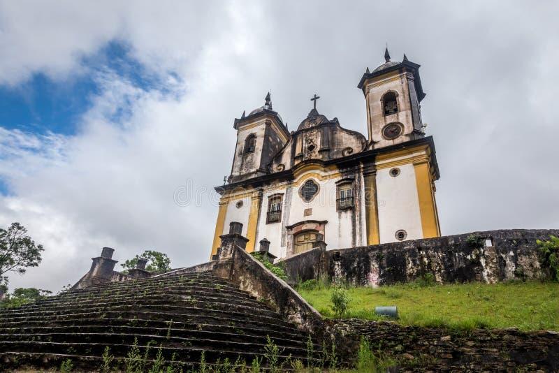 Sao Francisco De Paula Church, preto di ouro nel Brasile immagine stock libera da diritti