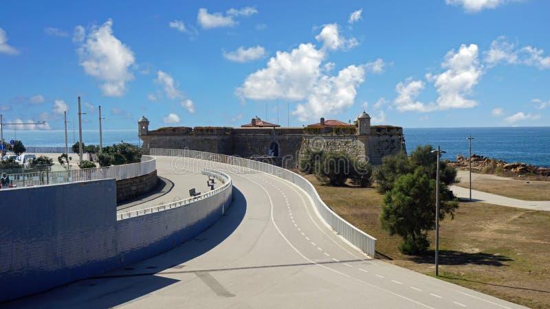 Sao Francisco Queijo fortress in portuguese town porto royalty free stock photo