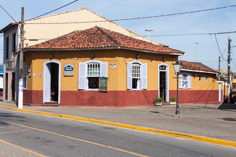 Sao histórico Paulo Brazil de Itanhaem de la casa imágenes de archivo libres de regalías