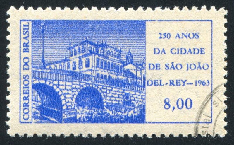 Sao Joao del Rei. BRAZIL - CIRCA 1963: stamp printed by Brazil, shows Sao Joao del Rei, circa 1963 royalty free stock image