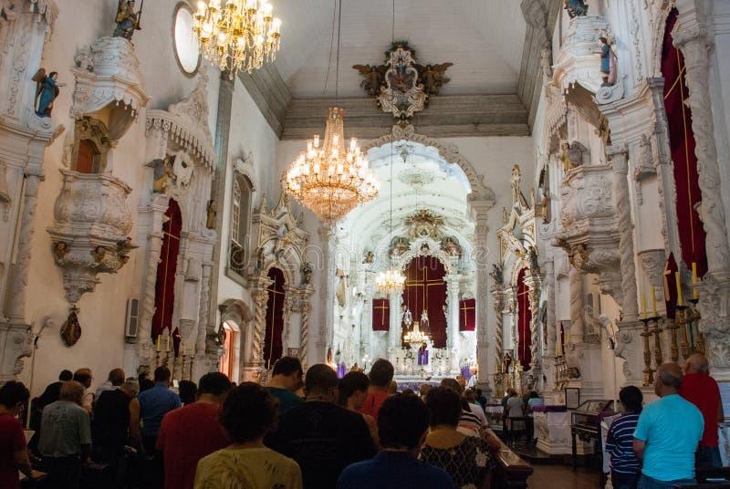 SAO JOAO DEL REI, BRAZIL : Interior of Sao Francisco de Assis Church - Sao Joao Del Rei, Minas Gerais stock photos