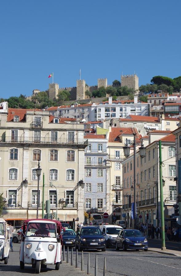 Sao Jorge Castle stock afbeelding