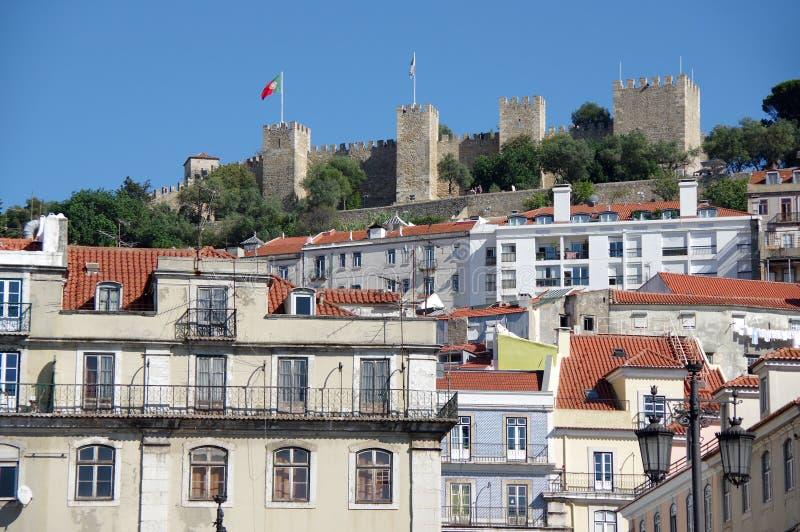 Sao Jorge Castle royalty-vrije stock afbeeldingen