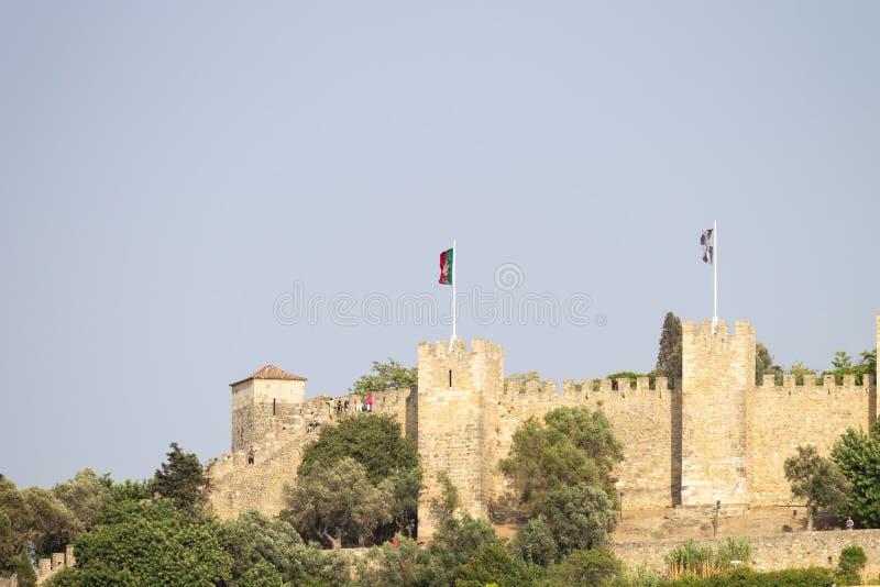 Sao Jorge Castle i Lissabon royaltyfri bild