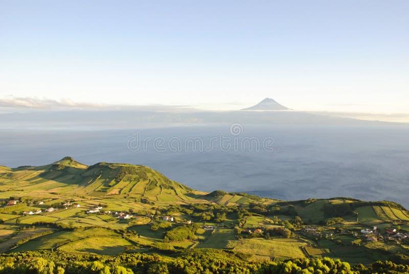 Sao Jorge con Pico, Azores fotos de archivo libres de regalías
