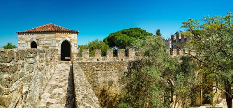 Sao Jorge del castillo en Lisboa, Portugal imagen de archivo libre de regalías