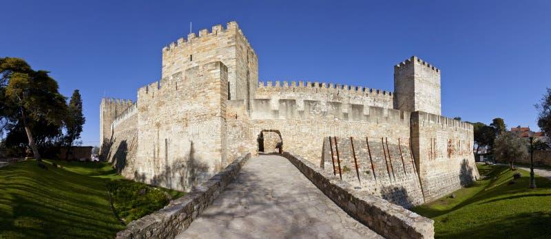Sao Jorge kasztelu Lisbon St. George obrazy royalty free