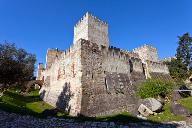 Sao Jorge kasztelu Lisbon St. George zdjęcia stock