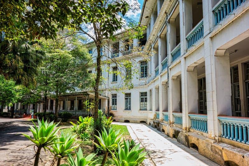 SAO JOSE DOS CAMPOS, SAO PAULO, BRÉSIL - 27 DÉCEMBRE 2018 : Bâtiment principal de parc de Vicentina Aranha, ancien sanatorium photo stock