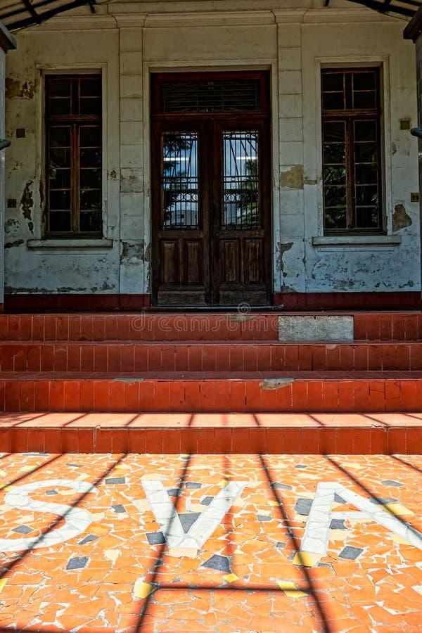 SAO JOSE DOS CAMPOS, SAO PAULO, BRÉSIL - 27 DÉCEMBRE 2018 : Bâtiment principal de parc de Vicentina Aranha, ancien sanatorium photo libre de droits