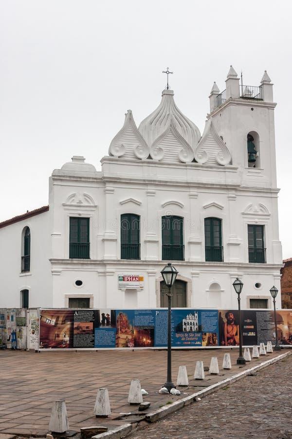Sao Jose robi Desterro Kościelnemu Sao Luis Maranhao zdjęcia royalty free