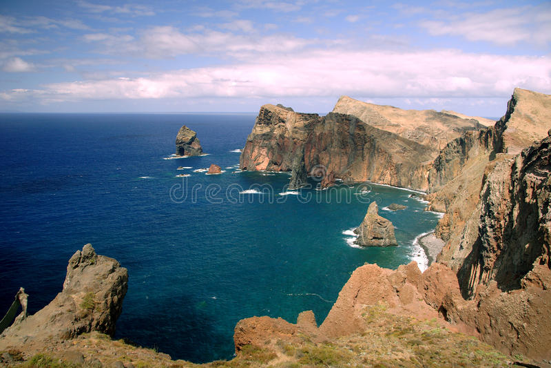 Sao Lourenco de péninsule chez la Madère image stock