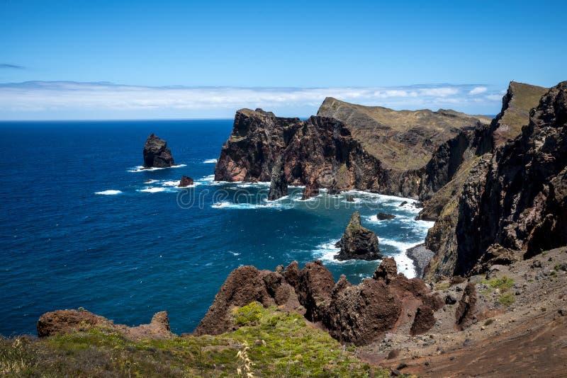 Sao Lourenco punkt dalszy punkt na wschodzie na wyspie madera fotografia royalty free