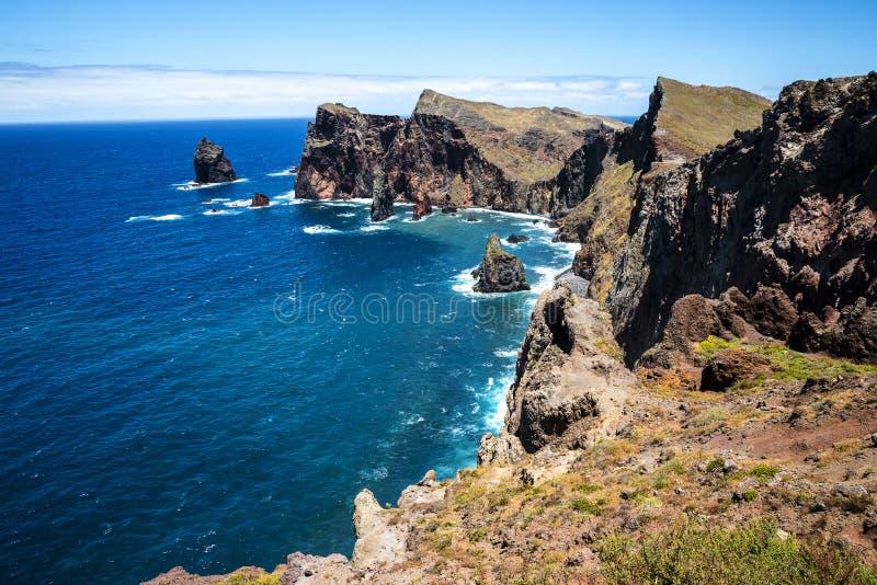 Sao Lourenco punkt dalszy punkt na wschodzie na wyspie madera obrazy royalty free