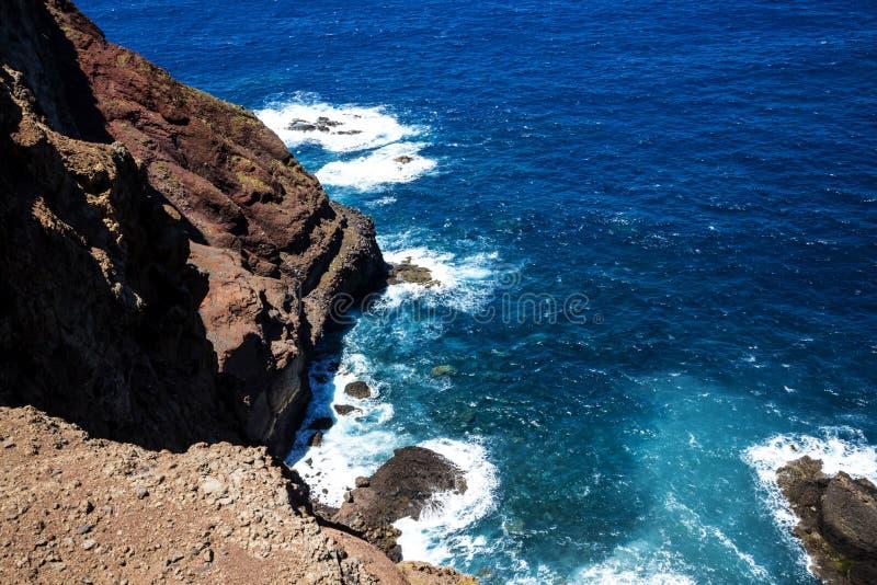Sao Lourenco punkt dalszy punkt na wschodzie na wyspie madera zdjęcia stock