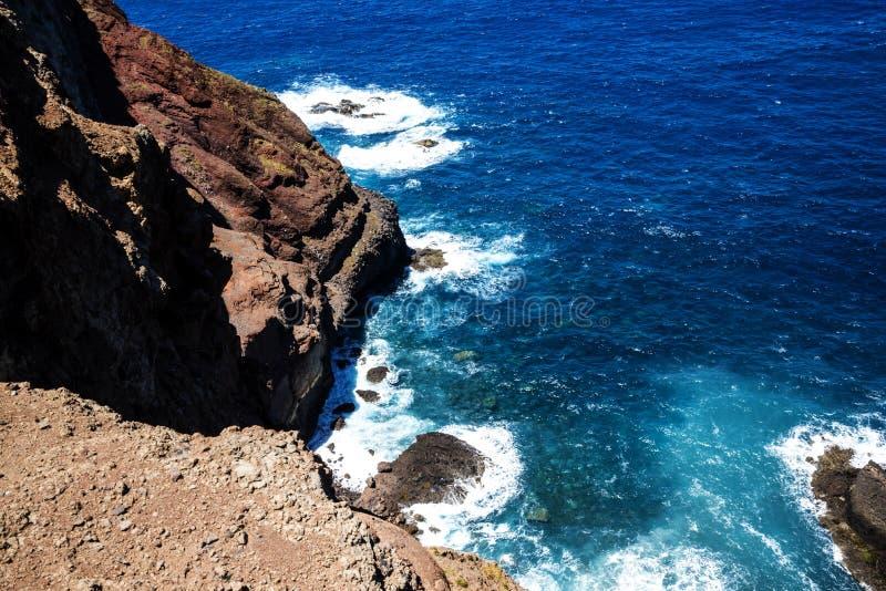 Sao Lourenco punkt dalszy punkt na wschodzie na wyspie madera zdjęcie royalty free