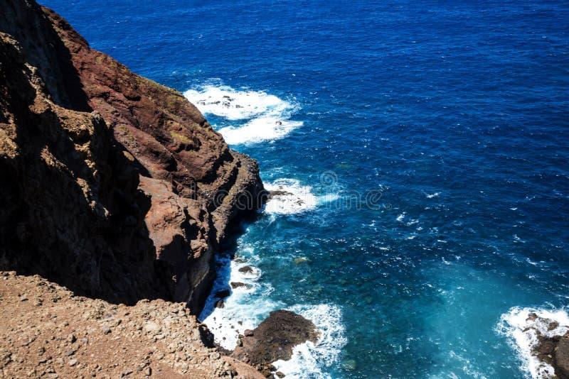Sao Lourenco punkt dalszy punkt na wschodzie na wyspie madera zdjęcie stock