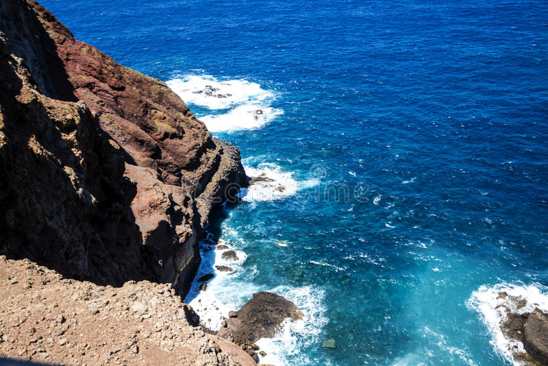Sao Lourenco punkt dalszy punkt na wschodzie na wyspie madera zdjęcia royalty free