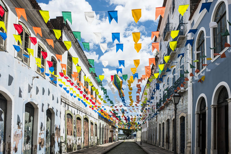 Sao Luis, stato del Maranhao, Brasile fotografia stock