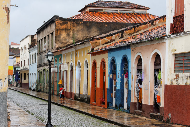 Sao Luis tun Maranhao stockfotos